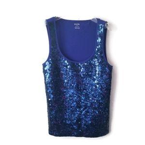 Michael Kors Tank Top Sequined Cotton sz XL